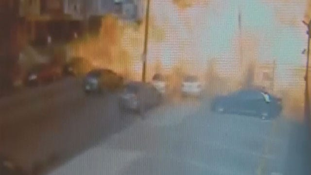 Caught On Camera: Food Truck Explodes In Philadelphia