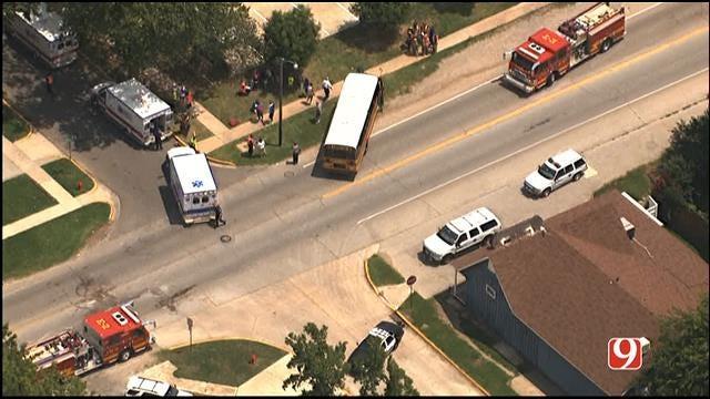 Children Injured After School Bus Crashes In Norman
