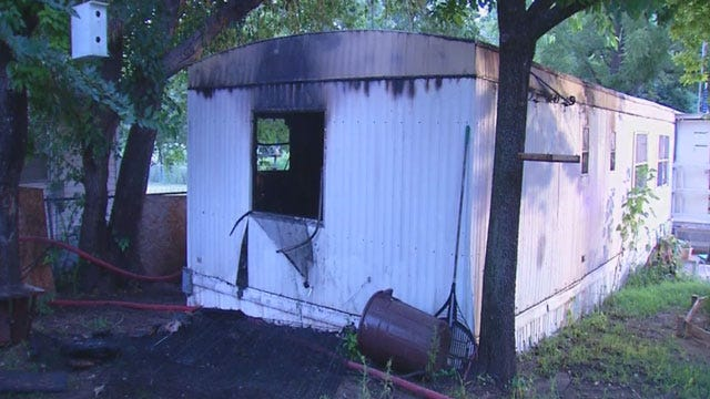 Fire Destroys Mobile Home In Spencer
