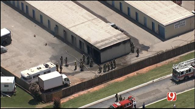 Crews Contain Storage Building Fire In NE OKC