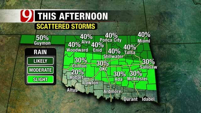 Best Chance For Storms In Northern Oklahoma Sunday