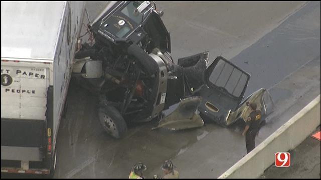 Semi Involved In Crash On Westbound I-40 In OKC