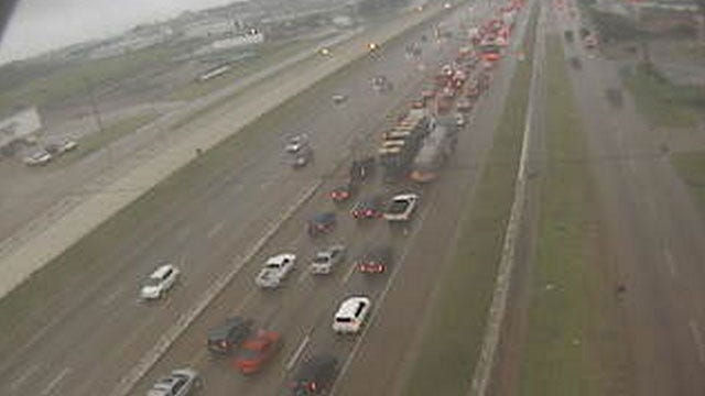 Accident Snarls Traffic On I-35 In SE OKC