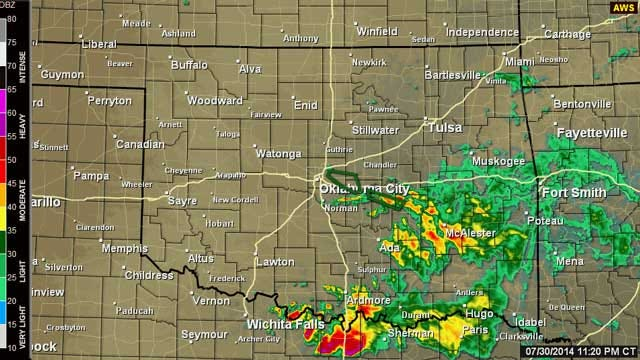 Flash Flood Warning Issued For Central, SE Oklahoma