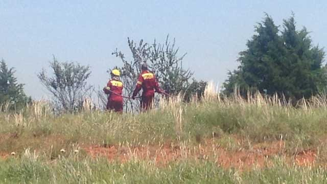 Crews Battle Grass Fire In NE OKC