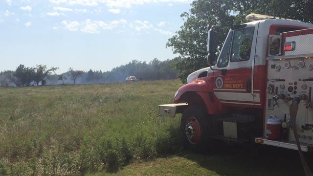 Grass Fire Burns 9 Acres In Oklahoma City