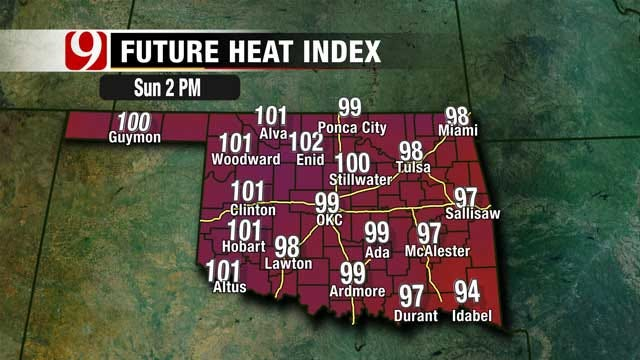 Holiday Weekend Ends With Heat Index Values Above 100