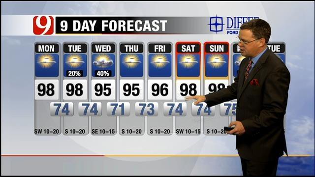 Sunny, Hot Monday Across Oklahoma