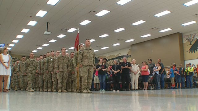 80 Oklahoma National Guard Soldiers Return Home