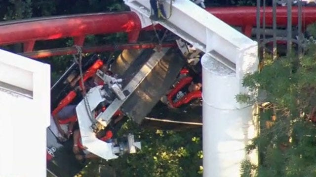 Passengers On Partially-Derailed California Roller Coaster Safely On Ground