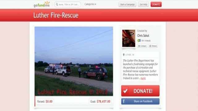 Luther Fire Department Collects Donations For Fire Equipment