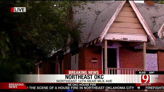 Crews Suspicious Of House Fire At Abandoned NE OKC Home