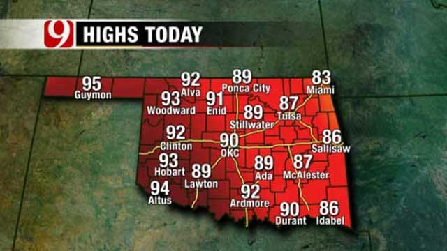 Storm Chances On Tap For Much Of Oklahoma