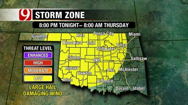 Thunderstorms Looming For Much Of Oklahoma