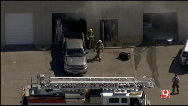 Crews Respond To Fire At Twisters Distillery In Moore