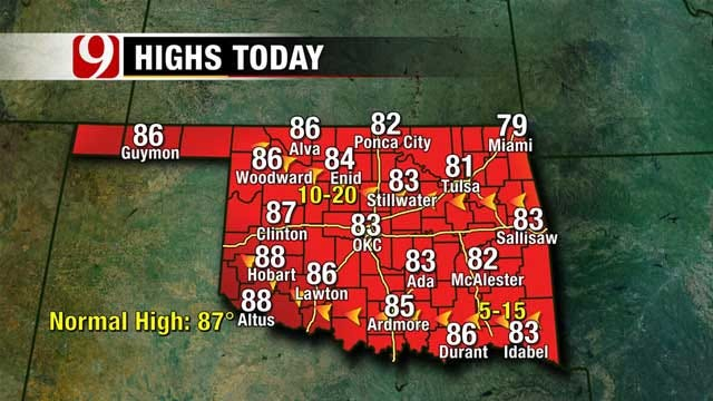 Friday Forecast Full Of Sunshine, Chance For Storms In Western Oklahoma Tonight