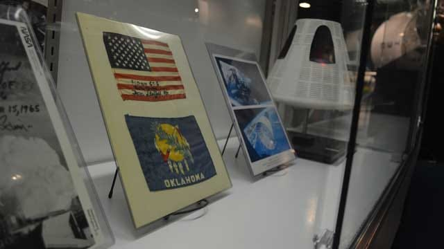 Stafford Museum Celebrates Flag Day Featuring Flown Space Flags