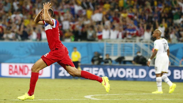 Brooks' Late Goal Lifts USA To World Cup Victory