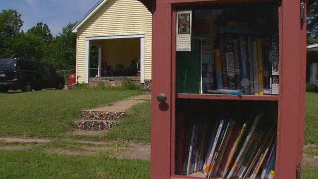 Grady County Family Creates Miniature Library