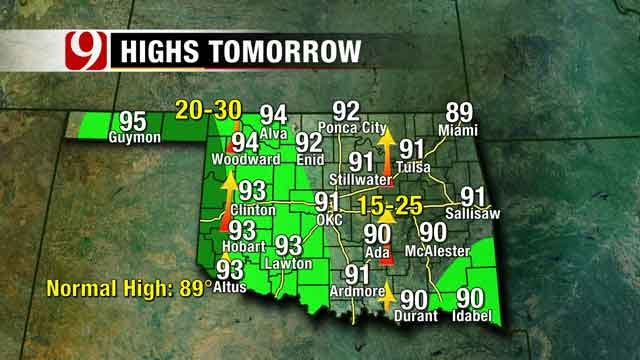 Rain Chances Continue Through Weekend For Oklahoma