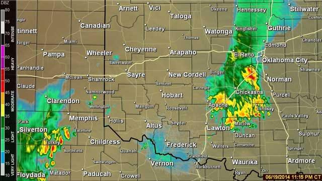 Heavy Thunderstorm Advisories Issued Across Oklahoma