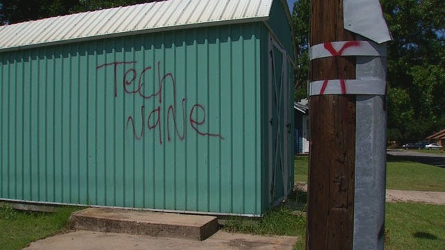 Chickasha Police Search For Suspects Accused Of Vandalizing Properties