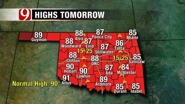 Slight Rain Chances In Panhandle, NW Oklahoma Tonight