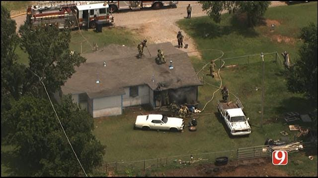 Crews Battle House Fire In NW Oklahoma City