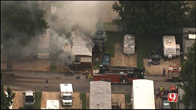 Crews Put Out Mobile Home Fire In Del City