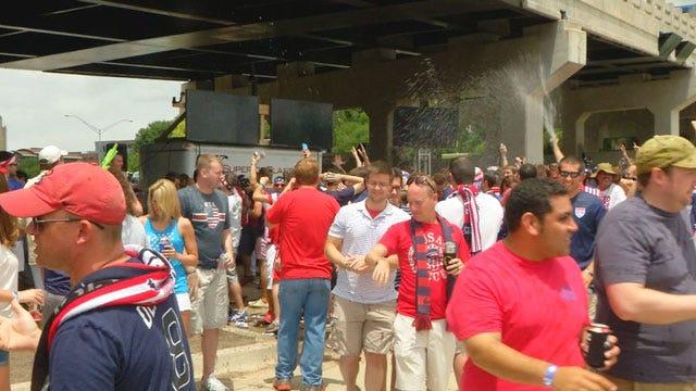 World Cup Fever Erupts As Fans Pack Bricktown