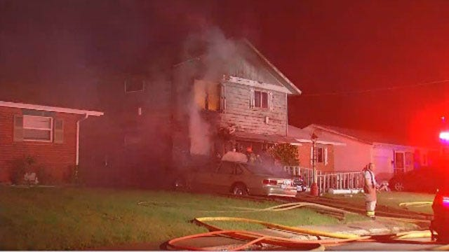 Grandparents, Kids Escape Burning Moore Home