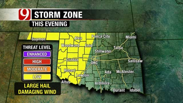 Rain Chances Friday Night, This Weekend In Oklahoma