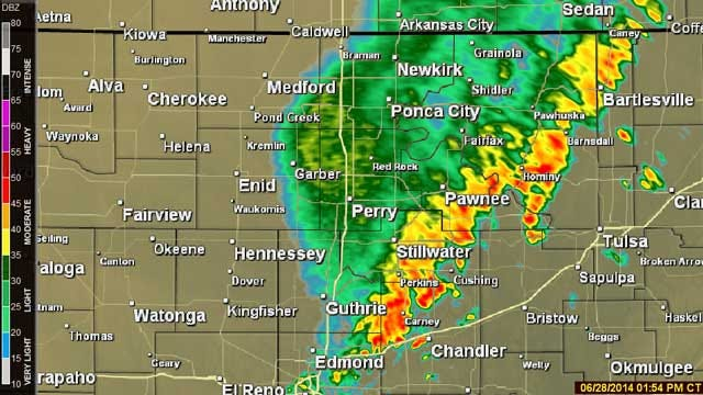 Severe Weather Moves Into Central Oklahoma
