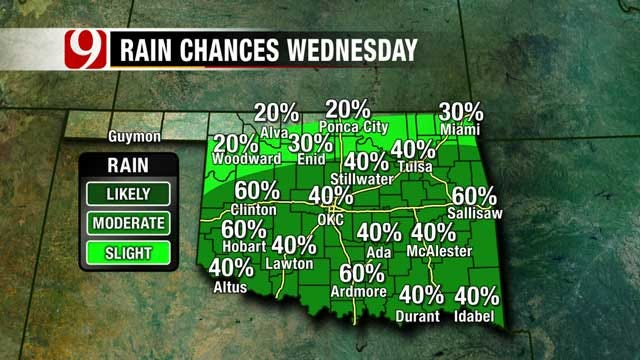 Rain Chances Increase Midweek, 4th Of July Looks Dry