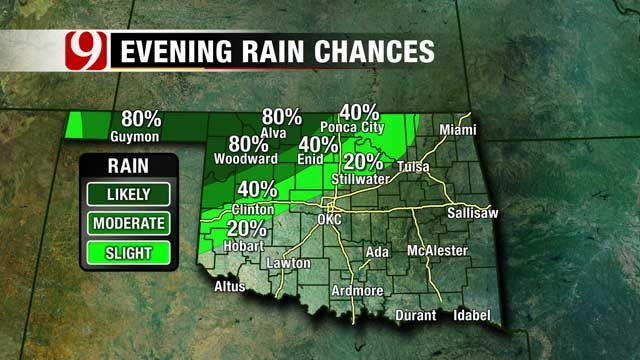 Storm Chances Go Up Monday Night In Oklahoma