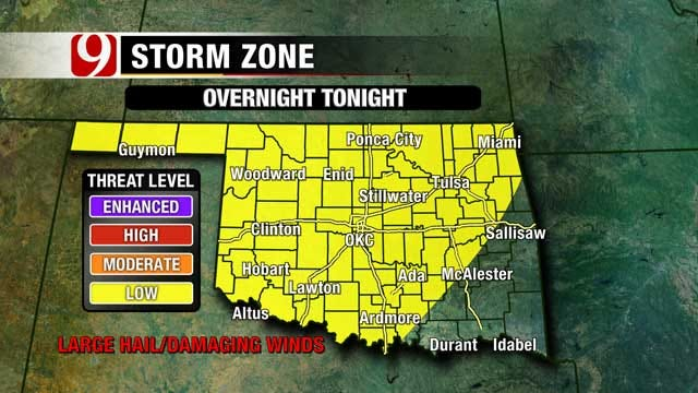 Strong To Severe Storms Possible Overnight Across Oklahoma