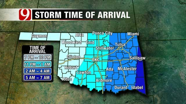 Storms Continue To Progress Across Oklahoma