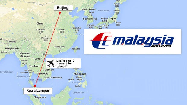 Search Continues For Missing Malaysia Airline Plane