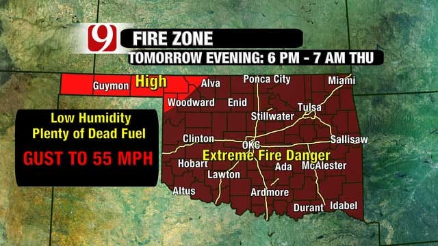 Spring-Like Temperatures, Extreme Fire Risk Returns