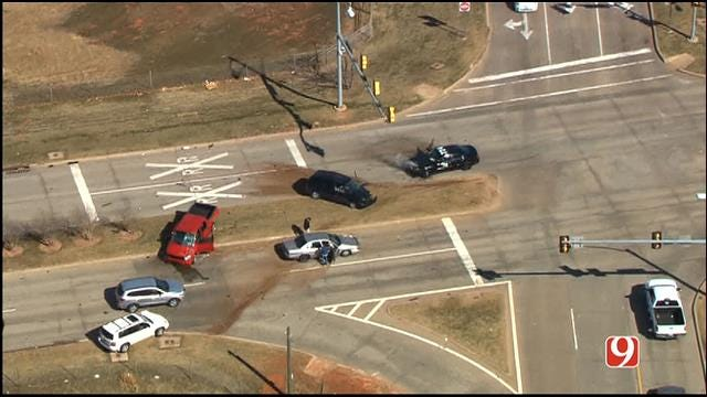 High-Speed Chase Ends In Crash Near Downtown OKC