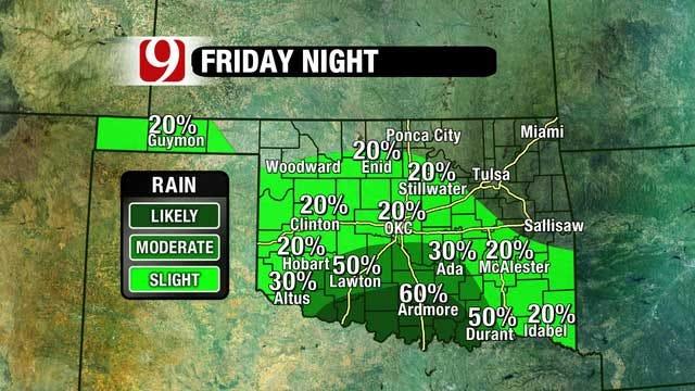 Weekend Rain Chances Increasing For Oklahoma