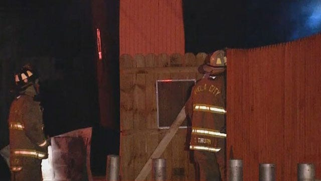 Children Left Alone Escape Burning Building In NW OKC