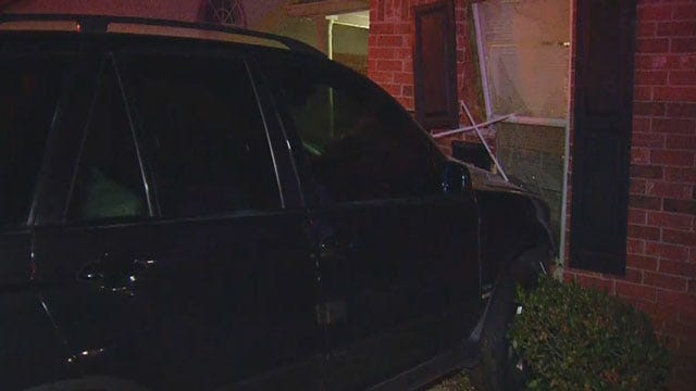 Rude Awakening: SUV Crashes Into Bedroom Of NW OKC House