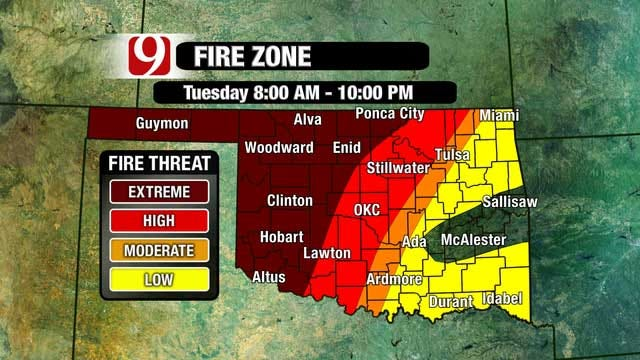 Strong Winds, Low Humidity Creates Extreme Wildfire Threat