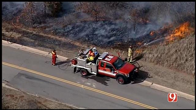 Firefighters Extinguish Several Wildfires In SE OKC