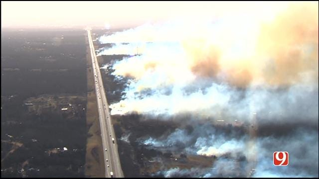 Multiple Wildfires Burn In Central Oklahoma