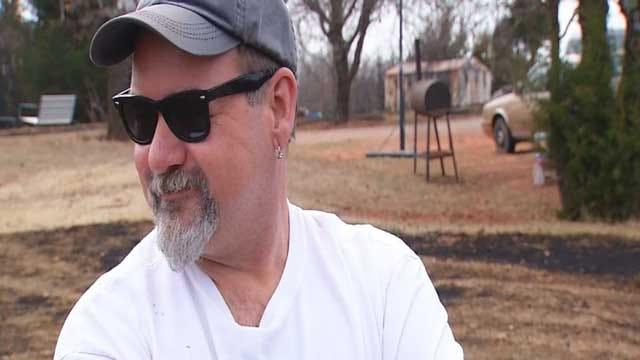 Man Fights Wildfire With Garden Hose In Jones