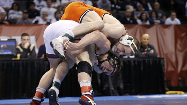 Cowboys Claim Two Individual National Titles At Wrestling Championships
