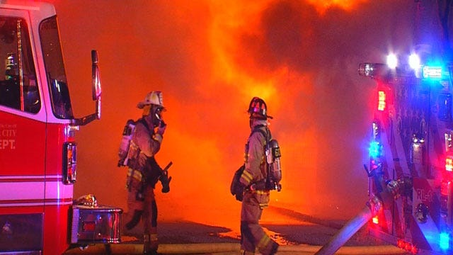 Crews Put Out 4-Alarm Structure Fire In NE OKC
