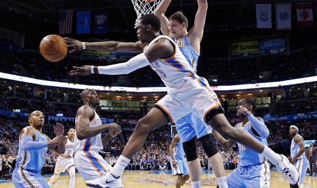Russ-less Thunder Use Scoring Explosion To Destroy Nuggets